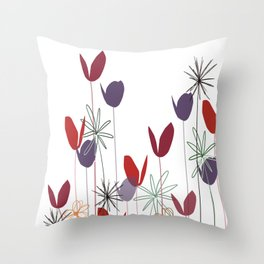Flowers print, impresion decorativa Throw Pillow