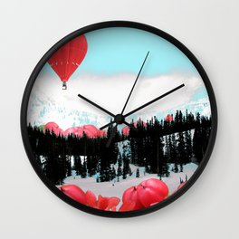 Snowy Glow Wall Clock