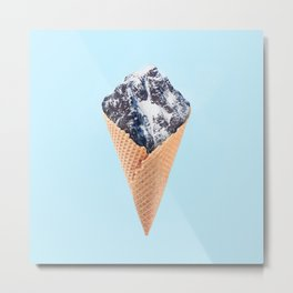 ICE CREAM MOUNTAIN Metal Print