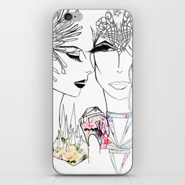 Flowergirls iPhone Skin