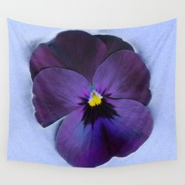 Ultra violet viola tricolor Wall Tapestry