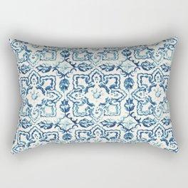 Azulejo IV - Portuguese hand painted tiles Rectangular Pillow