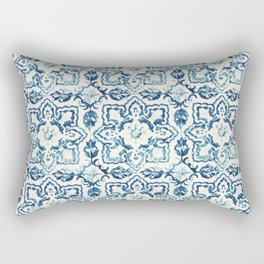 Azulejo IV - Portuguese hand painted tiles Rectangular Pillow