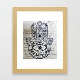 Hamsa Evil Eye for Protection Framed Art Print