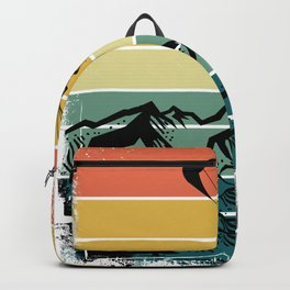 Paragliding Colorful Nature Mountains Backpack