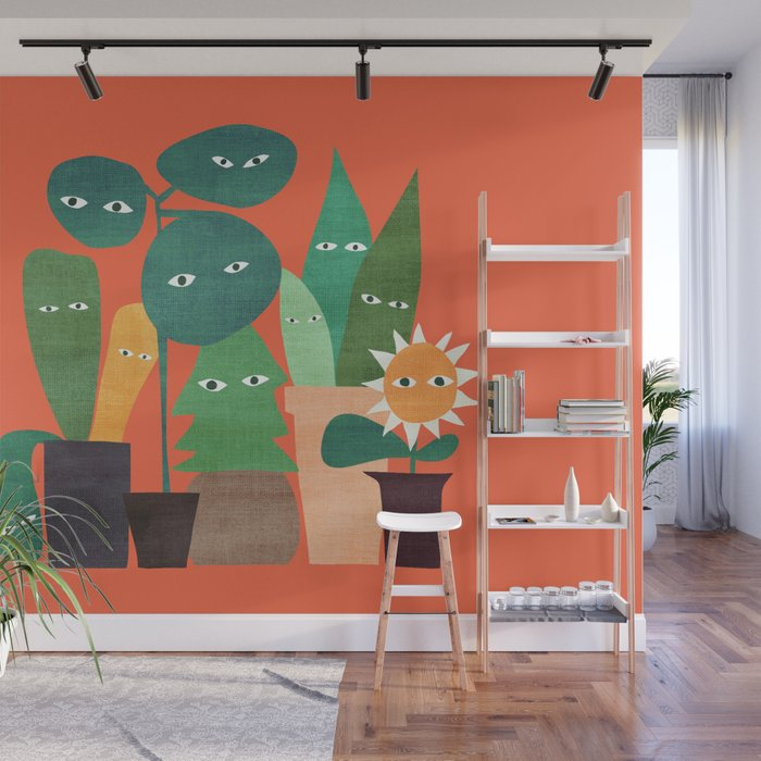 The plants are watching (paranoidos maximucho) Wall Mural