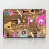 50s iPad Cases featuring Retro Fantasy 50s Brown Pink by Beatrice Roberts