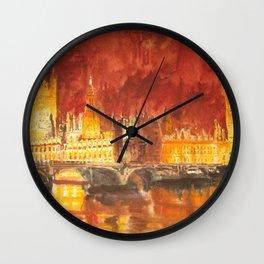 Abbey at night Wall Clock
