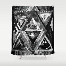 Eyesosceles B&W Shower Curtain