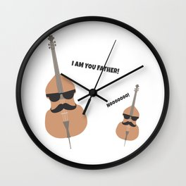 violin double bass cello father film quote gift Wall Clock