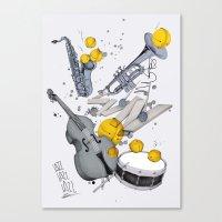 jazz Canvas Prints featuring Jazz Jazz Jazz by Philipp Zurmöhle