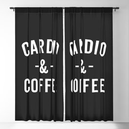 Cardio & Coffee Funny Gym Quote Blackout Curtain