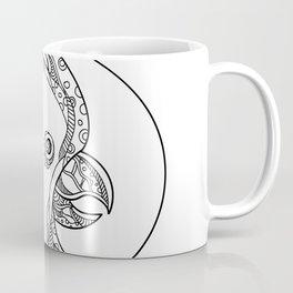 Cockatoo Head Circle Doodle Art Coffee Mug