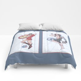 Tony and Bucky Pinups Comforters