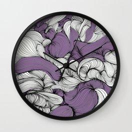 Lavender Fabric Wall Clock
