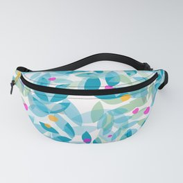 Blue Leaves and Berries Fanny Pack