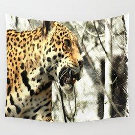 tree branch african safari animal leopard Wall Tapestry
