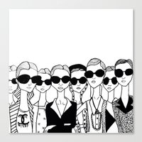 vogue Canvas Prints featuring Vogue by Rosalia Mendoza
