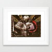 punk rock Framed Art Prints featuring Punk Rock Ultrasound by ADH Graphic Design