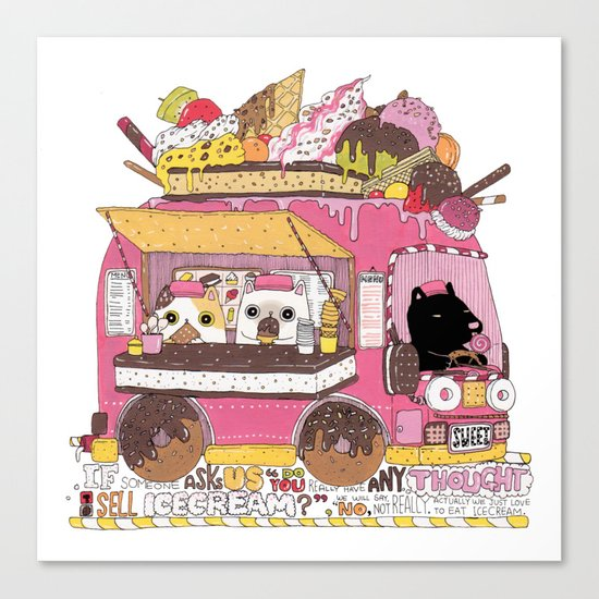 IceCream Truck Canvas Print