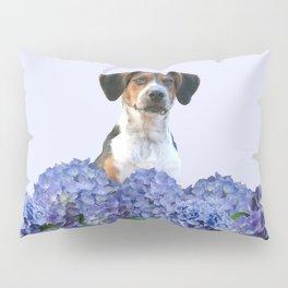 Hydrangea Blossoms  - Jack Russell terrier Dog Pillow Sham