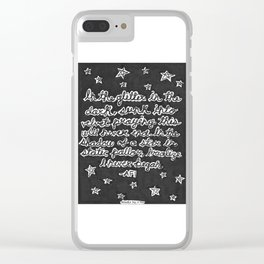 Shadow of a Star Clear iPhone Case