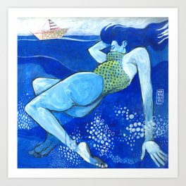 Ulisse e la sirena Art Print