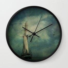 Sail away into the night Wall Clock