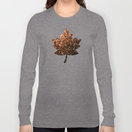 Beautiful Bronze Orange Brown glitters sparkles Long Sleeve T-shirt