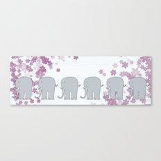 Elephants Canvas Print