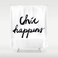 chic Shower Curtains featuring CHIC  by I Love Decor