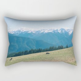 Deers on the Mountain Rectangular Pillow