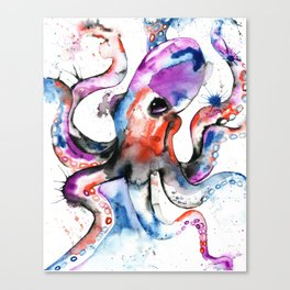 Octopus - Splatipus Canvas Print