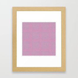 Jazzberry Jam Polka Dots Framed Art Print