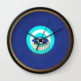 Blue Evil Eye tears of protection Wall Clock