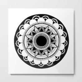 manifestation mandala white background Metal Print