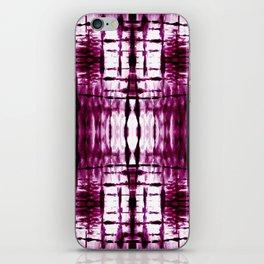 Black Cherry Plaid Shibori iPhone Skin