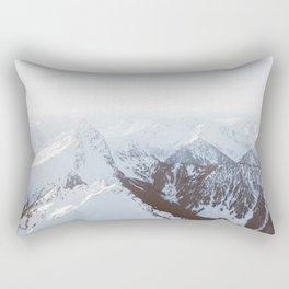 Snowy Mountains in Washington Rectangular Pillow
