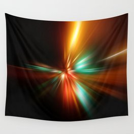 abstract acceleration speed motion on night road Wall Tapestry