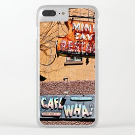Signs of Greenwich Village, NYC Clear iPhone Case