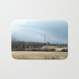 Talking with God: Comm Tower Landscape ~ Highway 401 Series (Jul16) Bath Mat