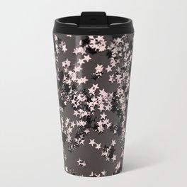 Blush Glitter Stars #2 #shiny #decor #art #society6 Travel Mug