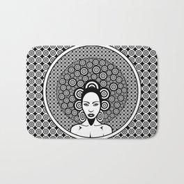 Sixties woman black and white Bath Mat