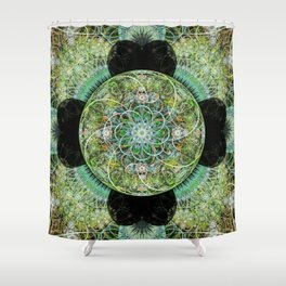 Floral Sphere Shower Curtain