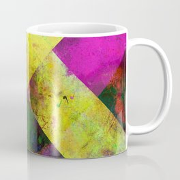 Dark Diamonds - Textured, patterned painting Coffee Mug