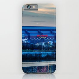 Indy's Lucas Oil Stadium Near the White River iPhone Case