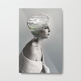 There is an ocean i my soul Metal Print