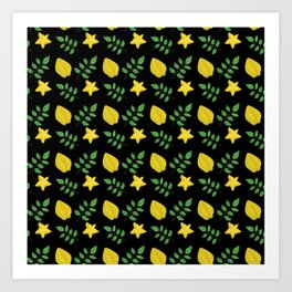 Averrhoa Carambola Starfruit Tree Exotic Fruit Art Print