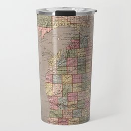 Vintage Map of Michigan (1844) Travel Mug