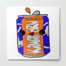 Kawaii Cute Irn-Bru Can Metal Print